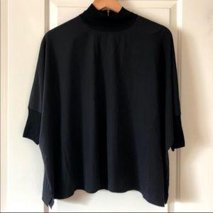 Athleta Black Parachute Shirt / XXS